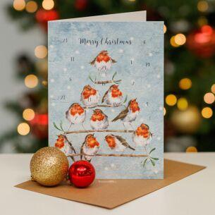 'Rockin' Robins' Advent Calendar Card