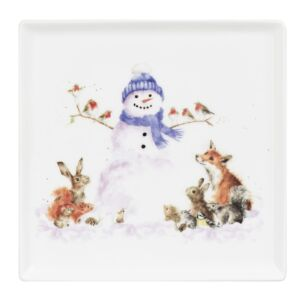 'Gathered Around' 7 Inch Square Plate From Royal Worcester