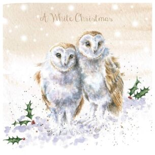 'A White Christmas' Luxury Gold Foiled Christmas Card