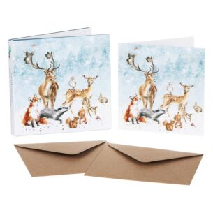 'Winter Wonderland' Set of 8 Luxury Gold Foiled Christmas Cards