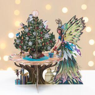 Me & McQ Fairy Table 3D Christmas Card