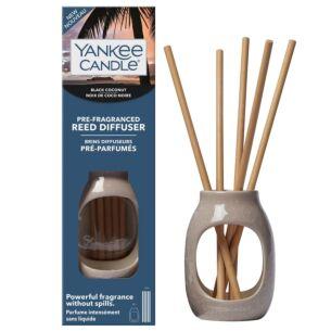 Black Coconut Embossed Pre-Fragranced Reed Starter Kit