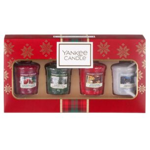 Alpine Christmas Four Votives Gift Set
