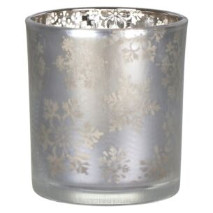 Snowflake Frost Large Votive Holder