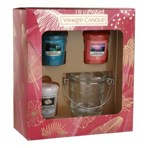 The Last Paradise Three Votive and Holder Gift Set