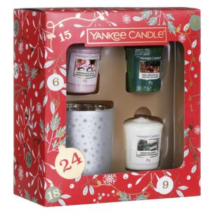 Countdown to Christmas Three Votive and Holder Gift Set