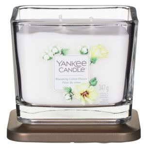 Blooming Cotton Flower Medium Elevation Candle