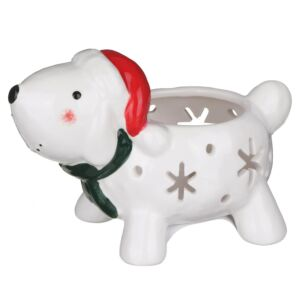 Christmas Snowdog Tealight Holder