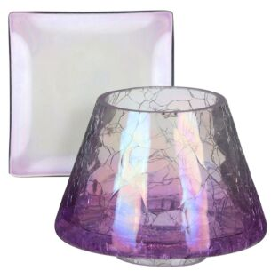 Yankee Candle Savoy Purple Crackle Small Shade & Tray