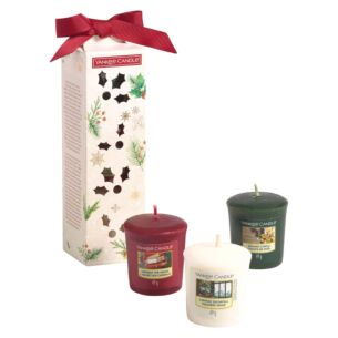 Magical Christmas Morning Three Votive Candle Gift Set