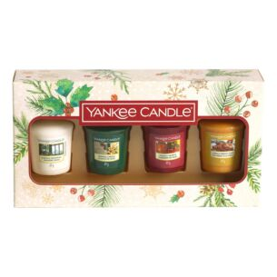 Magical Christmas Morning Four Votive Candle Gift Set