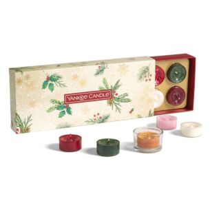 Magical Christmas Morning Ten Tealights and Holder Gift Set