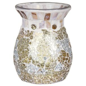 Gold & Pearl Mosaic Wax Melts Warmer