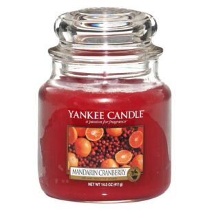 Mandarin Cranberry Medium Jar Candle