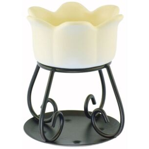Cream Petal Bowl Wax Melts Warmer