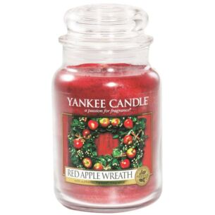 Red Apple Wreath Large Jar Candle