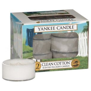 Clean Cotton Pack of 12 Tealights