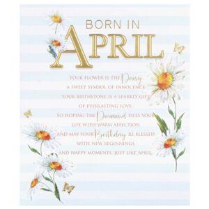 Floral 'Born in April' Birthday Card