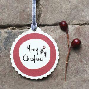 Merry Christmas Round Tag