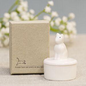 Cat Little Porcelain Pot
