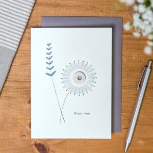 'Miss You' Floral Card