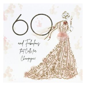 '60 & Fabulous' Birthday Card