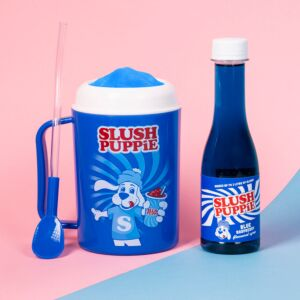 Slush Puppie Making Cup and Blue Raspberry Syrup