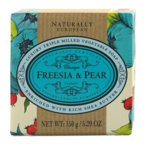 Naturally European Freesia & Pear Soap 150g