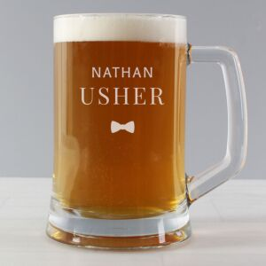Personalised Usher Pint Stern Tankard