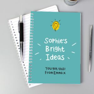 Personalised 'Bright Ideas' A5 Notebook