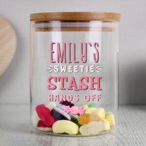 Personalised Sweetie Stash Jar