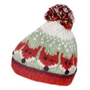 Kids Bobble Hat Fox