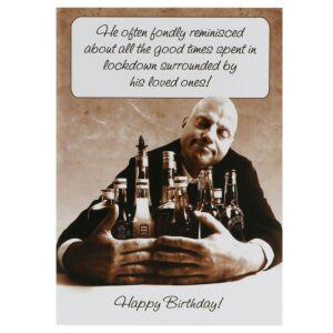 Rhubarb Pie 'Good Times' Lockdown Birthday Card