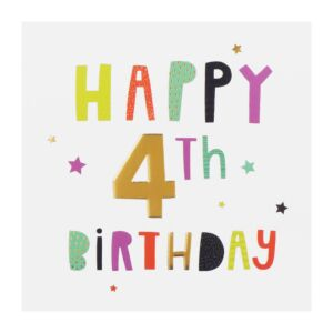 High Five 4th Birthday Card