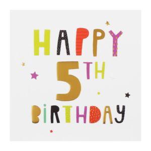 High Five 5th Birthday Card