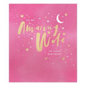 Written In The Stars Wife Birthday Card