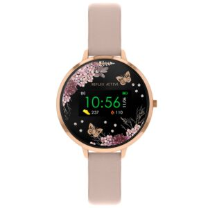 Series 3 Pink PU Leather Smart Watch
