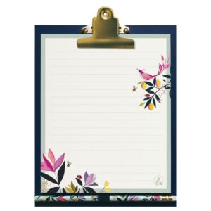 Orchard Birds Magnetic Clipboard, List Pad And Pencil
