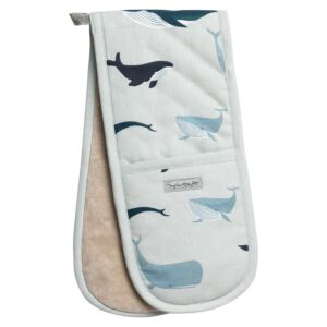Whales Double Oven Glove