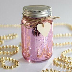 Pink LED Firefly Jar