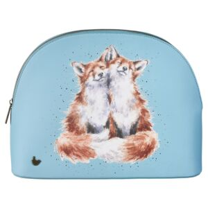 'Contentment' Fox Large Cosmetic Bag