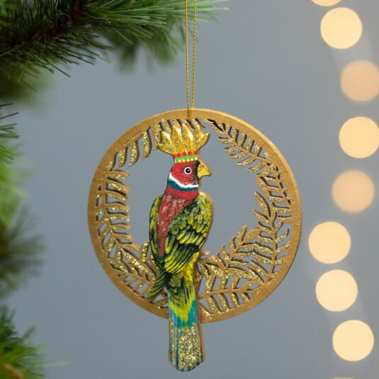 Assorted Wooden Parrot Tree Decoration
