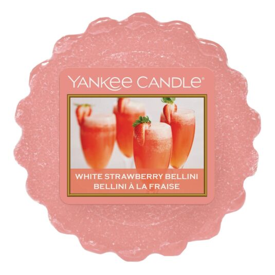 White Strawberry Bellini Wax Melt Tart