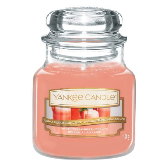 White Strawberry Bellini Small Jar Candle