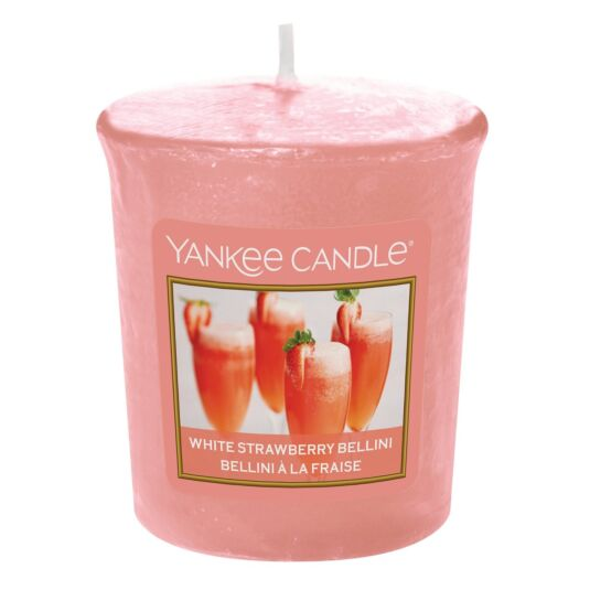 White Strawberry Bellini Sampler Votive Candle