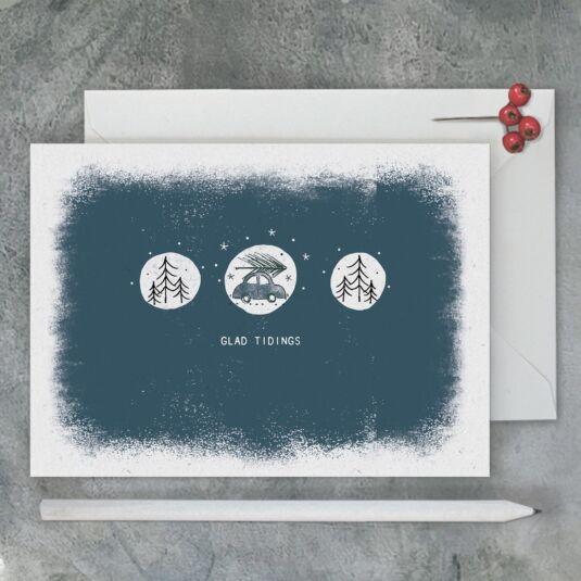 'Glad Tidings' Christmas Card