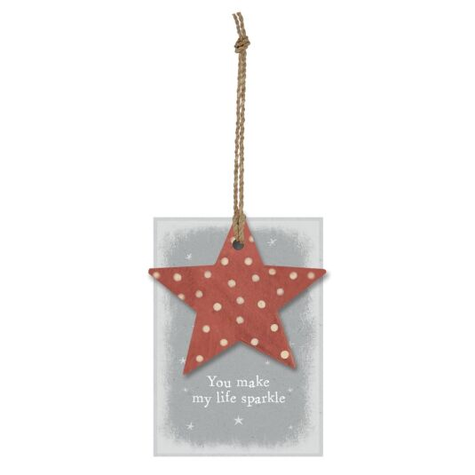 'You Make My Life Sparkle' Star Gift Tag