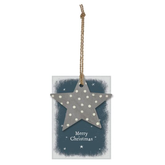 'Merry Christmas' Star Gift Tag