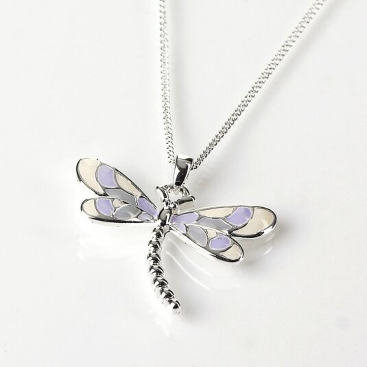 New Women Elegant Jewelry Fashion silver dragonfly necklace pendant s// LL