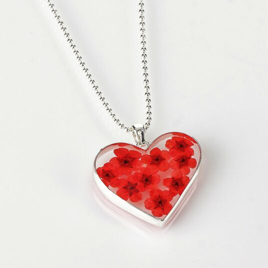 Eternal Flowers Heart Necklace